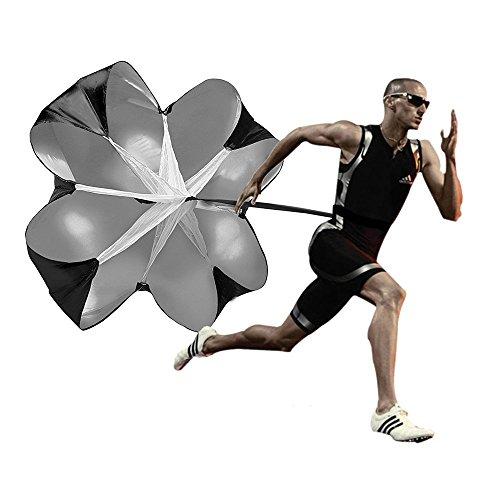 Speed Chute Widerstands-Fallschirm für Fußball, Leichtathletik, Sprint- und Ausdauertraining