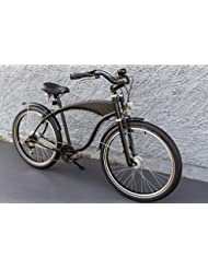 '26showbike Cruiser bicicleta 7velocidades Shimano dinamo de buje Schwalbe Negro