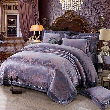 AIURLIFE Super suave Reina cama Deluxe algodón de seda edredón funda conjunto , queen