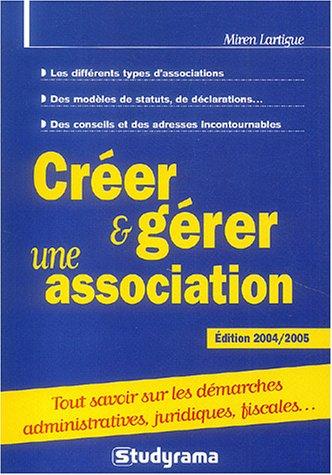 Créer et gérer une association