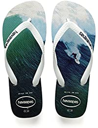 Havaianas Hype, Tongs Homme, White/White/Navy Blue