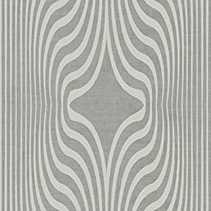 Argent Tropic de luxe, glittler Waves Finition vinyle lisse facile à accrocher, papier peint de qualité