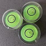 3 x nivel burbuja (en verde) con guía de/pequeño Mini blanco redondo circular Vial (incluye caja de regalo)