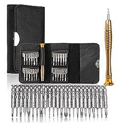 Präzisions-Torx-Schraubendreher-Wallet-Reparatur-Werkzeug-Set Multifunktionswerkzeug for iPhone Laptop 28 in 1 DIY Tools