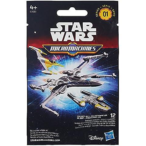 Hasbro – B3681 – Micro Machines – Star Wars – 1 Sobre Sorpresa con 1 Mini Vehículo – Modelo