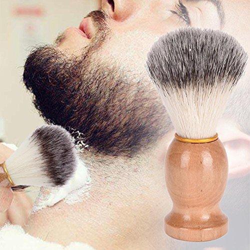 Arvin87Lyly Rasierschaum-Bürste Rasierpinsel aus Holz Rasiercreme Pinsel Rasierwerkzeuge für Männer Traditionelles Nasses Rasierzeug
