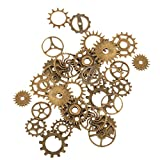 #3: Segolike 2x 17pcs Fashion Steampunk Watch Parts Cogs Bronze Gear Charms DIY Making Findings Crafts