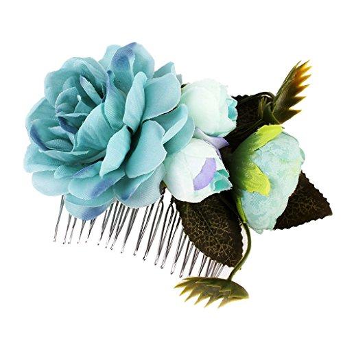 Homyl Hiippie Boho Blumen Haarnadeln Hochzeit Braut Brautjungfer Haarkamm Haarkämme Haarschmuck Haarpins Blumenhaarnadel Brautschmuck - Farbe F