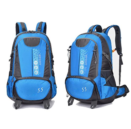 Outdoor Wandern Ausflugsbeutel Large Capacity Mountaineering Camping Männer Casual Sport Fashion Rucksack,DarkBlue SkyBlue