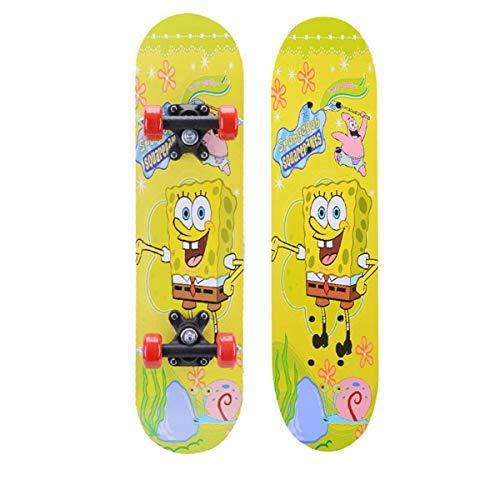 rd Komplett Longboard Double Kick Skateboard Cruiser 8 Lagen Ahorn Deck für Extremsport und Outdoor, 11,60cm ()