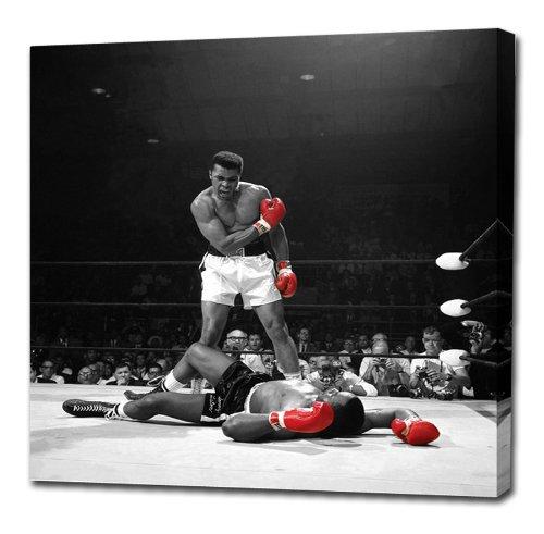 Muhammad Ali V Sonny Liston von Canvas35rot Handschuhe (Amazing Qualität dicken Kiefer) 101,6x 101,6cm Beeindruckende Galerie...