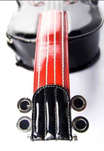 Sacchetto di spalla della borsa della spalla dello zaino di forma del violino manuale delle signore donne squisite della borsa di Tote , Red black