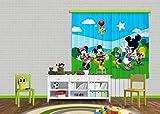 AG Design Gardine/Vorhang FCS XL 4307 Kinderzimmer Disney Mickey Mouse