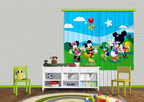 Ag design fcs xl 4307 - tende per camera bambini, motivo topolino disney