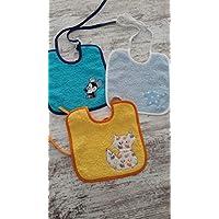 Pack babero x3 diferentes colores y motivos. Bebes y Niños