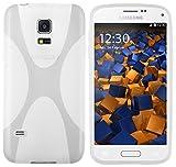 mumbi X-TPU Schutzhülle Samsung Galaxy S5 Mini Hülle transparent weiss
