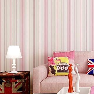 Arture 1 000 x 53 cm Papier Peint Autocollant en Tissu Non-tissé Amovible Décoration Murale pour Chambre d'enfant Garçon et Fille Chambre Décor Mur Rose Bonbon