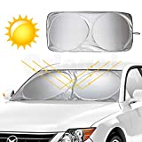 Orlegol Auto Sonnenschutz, Auto Frontscheibe Sommer Faltbare Sonnenblende UV-Schutz Sonnenschutz Super Leichter Windschutzscheibe Sonnenschirm SUV Autozubehör für Kinder, Hunde und Baby - 160 * 86cm