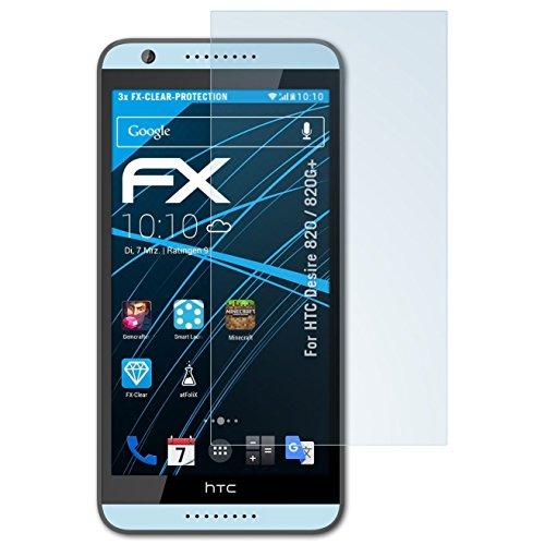atFolix Schutzfolie kompatibel mit HTC Desire 820 / 820G+ Folie, ultraklare FX Displayschutzfolie (3X) (Htc 820)