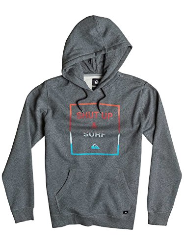 Herren Kapuzenpullover Quiksilver Shut Up Surf Hoodie Medium Grey Heather