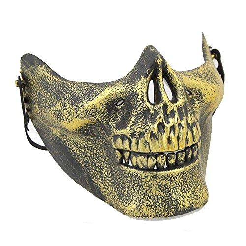 PromMask Masken Gesichtsmaske Gesichtsschutz Domino falsche Front Halloween Aprilscherz-Tagesmake-up Make-upball Maske Gold