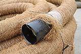 Doubleyou Geovlies & Baustoffe Drainagerohr DN 100 gelocht mit Kokosfilter, Kokos ummantelt, Drainage (20m)