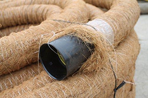 Drainagerohr DN 100 gelocht mit Kokosfilter, Kokos ummantelt, Drainage (20m) Doubleyou Geovlies & Baustoffe®