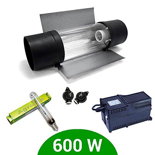 Kit Beleuchtung 600W SHP Agrolite + Vorschaltgerät Agrolite Klasse 2+ Cooltube ProTube