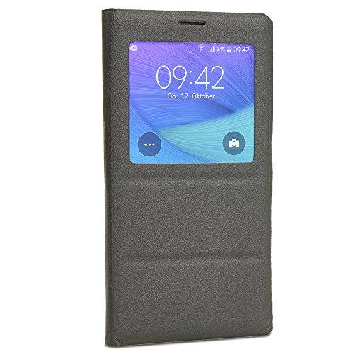 achilles Schutzhülle mit S-View für Samsung Galaxy Note 4, Cover, Flip Case, Chip, S-View, Schutzhülle, schwarz