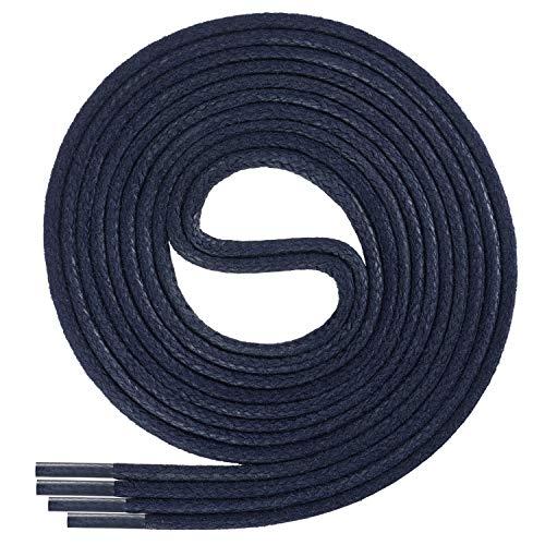 Di Ficchiano-SW-03-navy-75 gewachste runde Schnürsenkel, Schuband, Laces, Durchmesser 2-4 mm für Businessschuhe, Anzugschuhe und Lederschuhe
