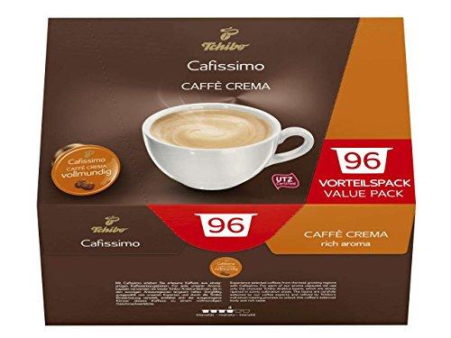 Tchibo Cafissimo 96er Kapseln Caffé Crema vollmundig, Professional Vorratsbox