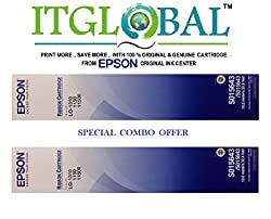 Epson LQ 1310 [Pack of 2] Original Ribbon Cartridge--Special ITGLOBAL Combo With Scratch & Win Reward Offer - From ITGLOBAL