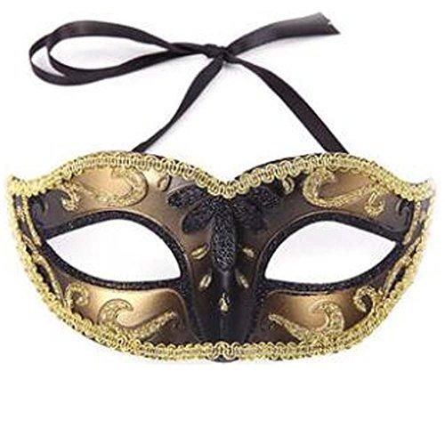 der Halloween Maske Maskerade Kostüm Maske Handgefertigt (15x6 cm) (Lustige Halloween Kostüme Zum Verkauf)