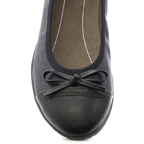 Soft Line Donna - Scarpe Slip-On Casual Piatte Nere Nero