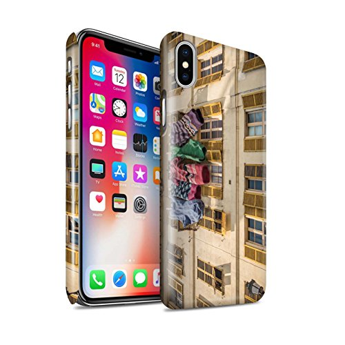 STUFF4 Glanz Snap-On Hülle / Case für Apple iPhone X/10 / Ersten Gang Muster / Vorstellen Kollektion Schöne Socken