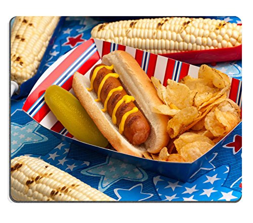 autschuk Mousepad Hot Dogs Mais und Getränke auf 4. Juli Picknick in Patriotische Thema Bild-ID 13566459 (Patriotische Getränke)