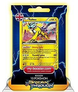 RAIKOU holo reverse 55/162 120HP XY08 BREAK THROUGH - Booster de 10 cartes Pokemon anglaises my-booster