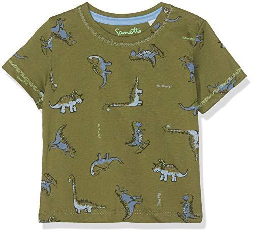 Sanetta Baby-Jungen T-Shirt, Grün (Dark Leaf 4951), 80 (Herstellergröße: 080) -