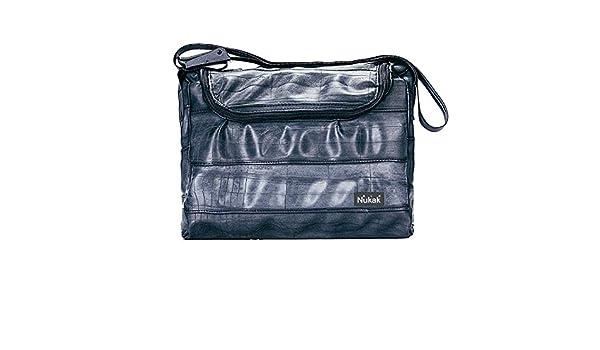 Nukak Ginkgo, sac à bandoulière mixte adulte, Negro (Black), 12x28x38 cm (W x H L)