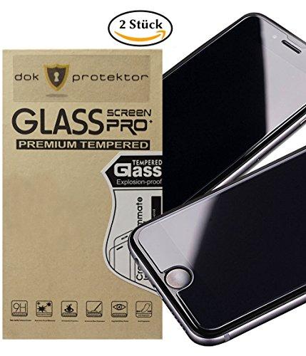 dok protektor Panzerglas passend für iPhone 6/6s/7/8 Displayschutzfolie 2 Stück - 9H Härte, extrem Kratzfest, Hartglas, 3D Touch, Anti-Öl