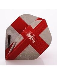 WINMAU MEGA STANDARD DARTS FLIGHTS ENGLAND FLAG ST GEORGE CROSS by PerfectDarts