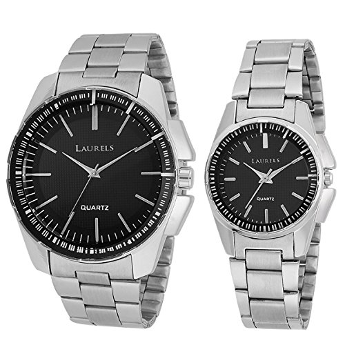 Laurels LO-AGST-0207C August Analog Watch For Couple
