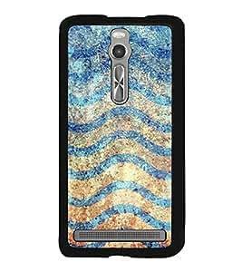 Waves Pattern 2D Hard Polycarbonate Designer Back Case Cover for Asus Zenfone 2 ZE551ML