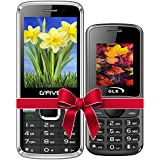 G'Five G9(Black)+GLX W5 Black COMBO OF TWO Basic Feature Mobile Phone With WIRELESS FM & 1 Year Manufacturer Warranty