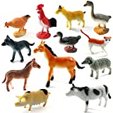 Funny Teddy 20 Pcs Realistic Animal Toy Set With Jungle Wallpaper/mat - Educational Learning Game For Kids | Animal Figures | High Quality | Large Size | Birthday Gift (Farm Animals)
