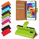 Bralexx Bookstyle Tasche für Samsung Galaxy S5 Mini G800F grün