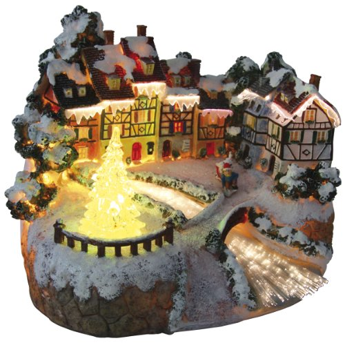 Fiberoptik Wintermärchen Weihnachtsdorf mit Farbwechsel
