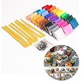 CLE DE TOUS@ Juego de 30 colores Arcilla polimérica + herramientas de modelado + accesorios DIY Manualidades