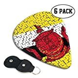 Brunei Flag Puzzle Celluloid Guitar Picks Premium Picks 6 Pack for Guitar,Mandolin,and Bass 0.46mm,...