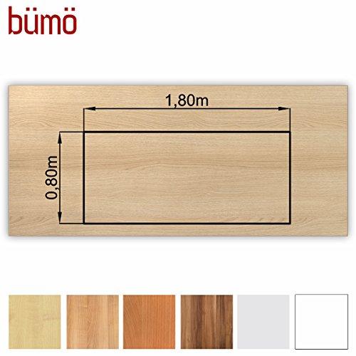 Bümö stabile Tischplatte 2,5 cm stark - DIY Schreibtischplatte aus Holz | Bürotischplatte belastbar mit 120 kg | Spanholzplatte in...